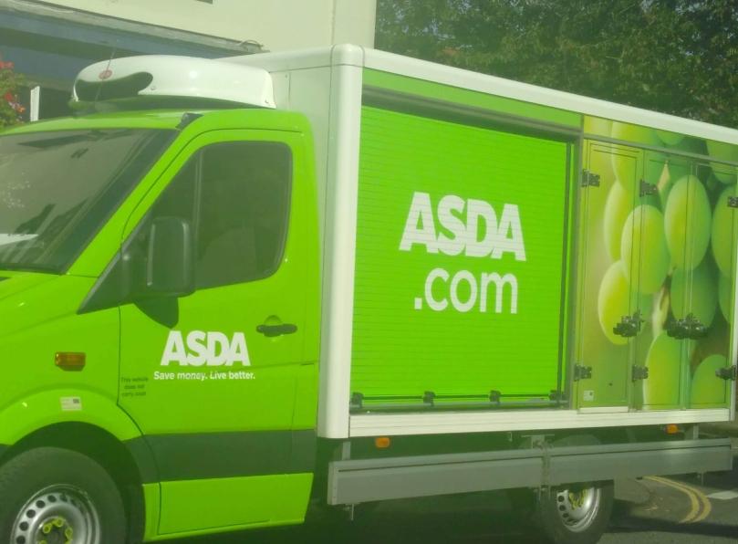 asda van with grapes
